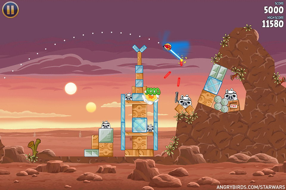 Скриншот Angry Birds Star Wars