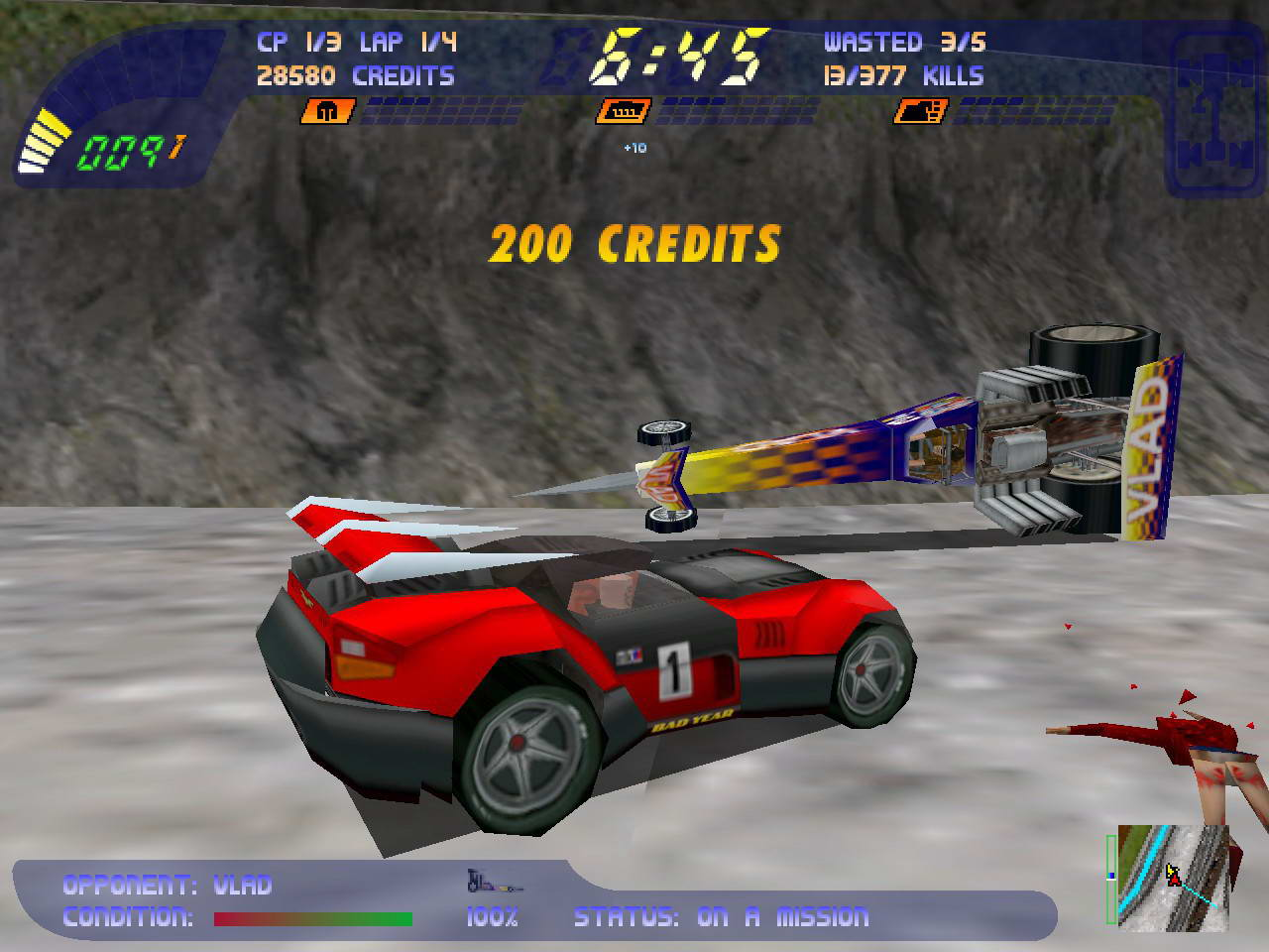 Скриншот Carmageddon 2: Carpocalypse Now