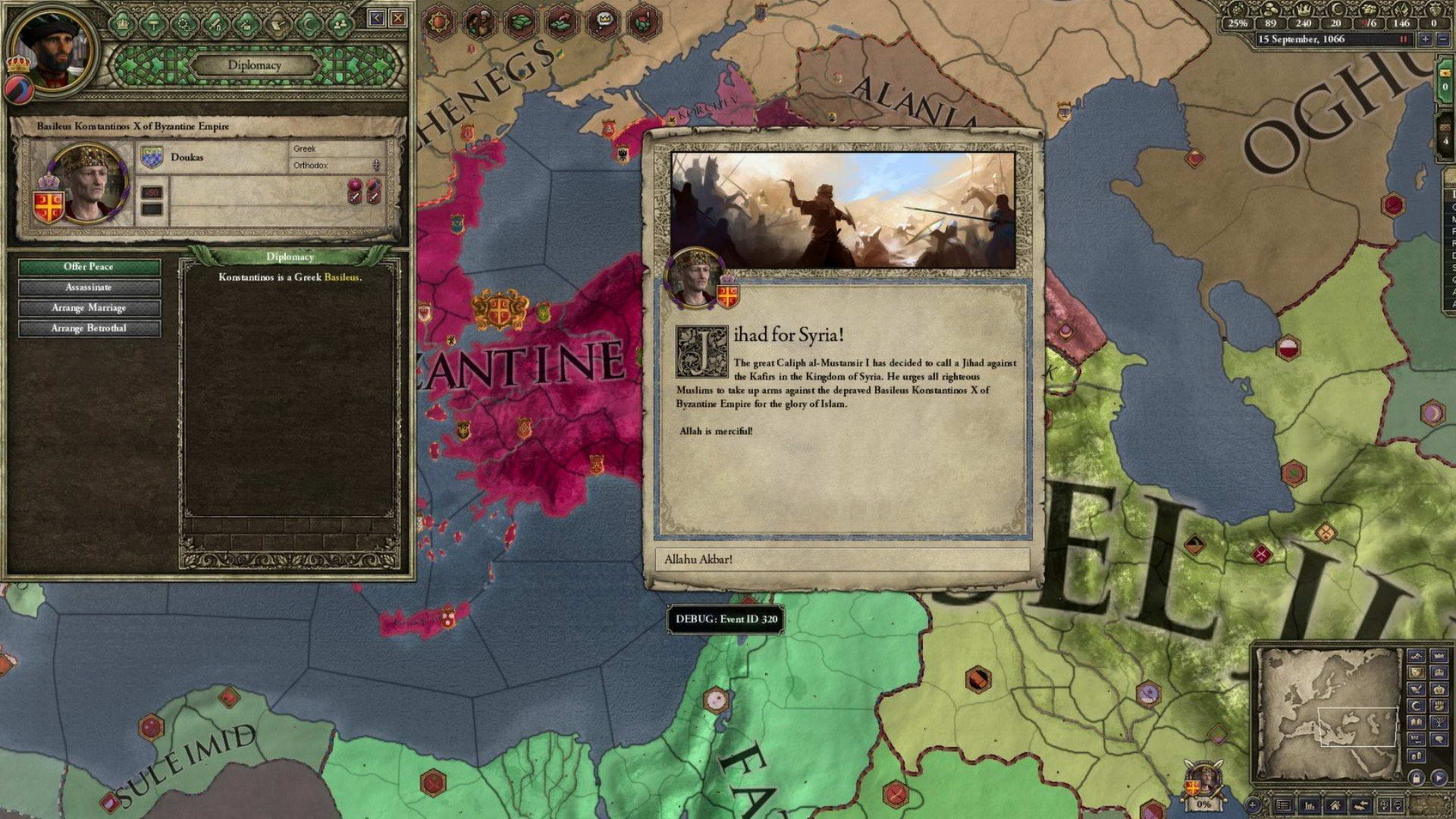 Скриншот Crusader Kings II: Sword of Islam