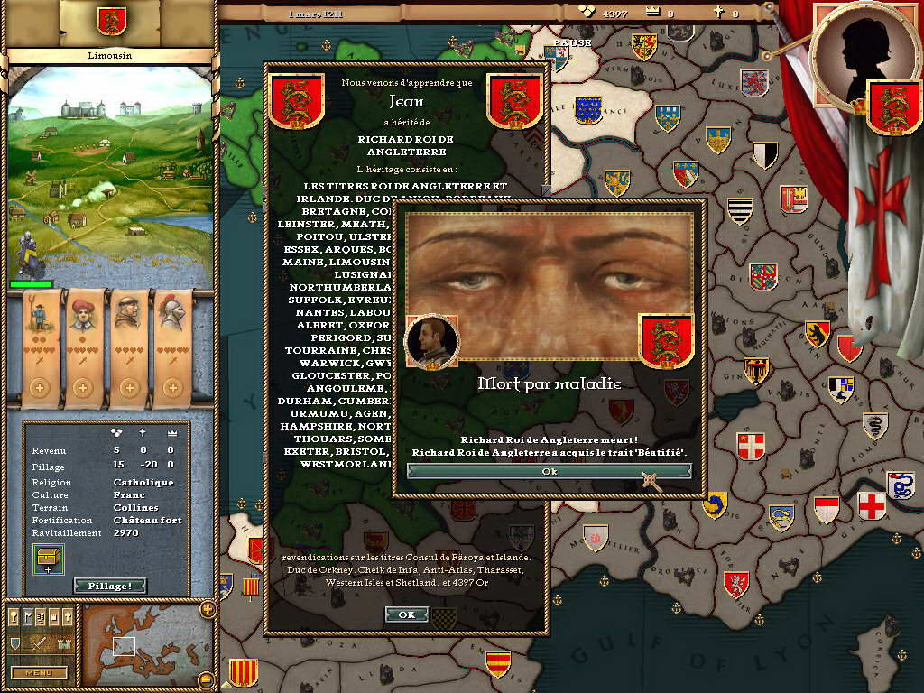 Скриншот Crusader Kings
