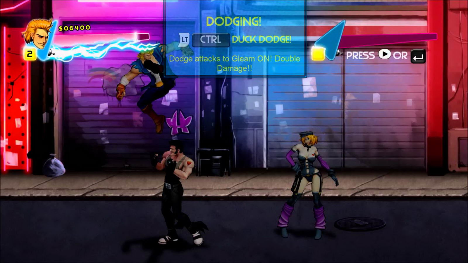 Скриншот Double Dragon Neon
