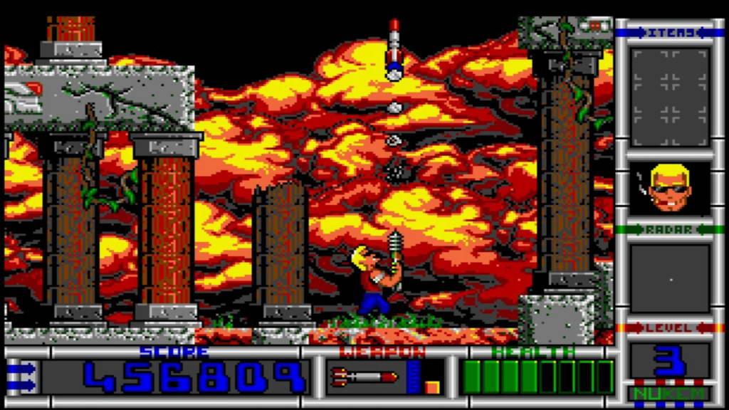 Скриншот Duke Nukem II