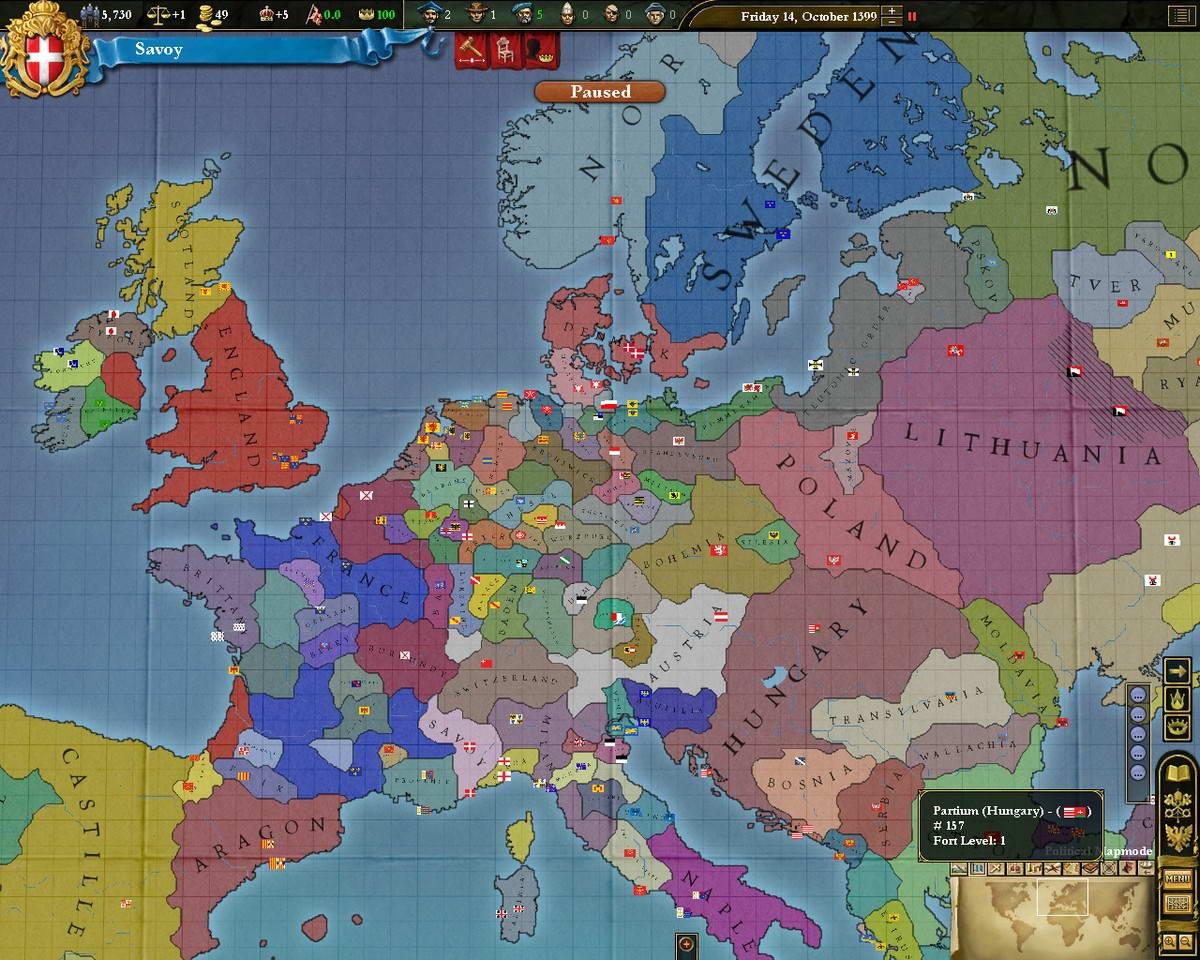 Скриншот Europa Universalis III: Divine Wind