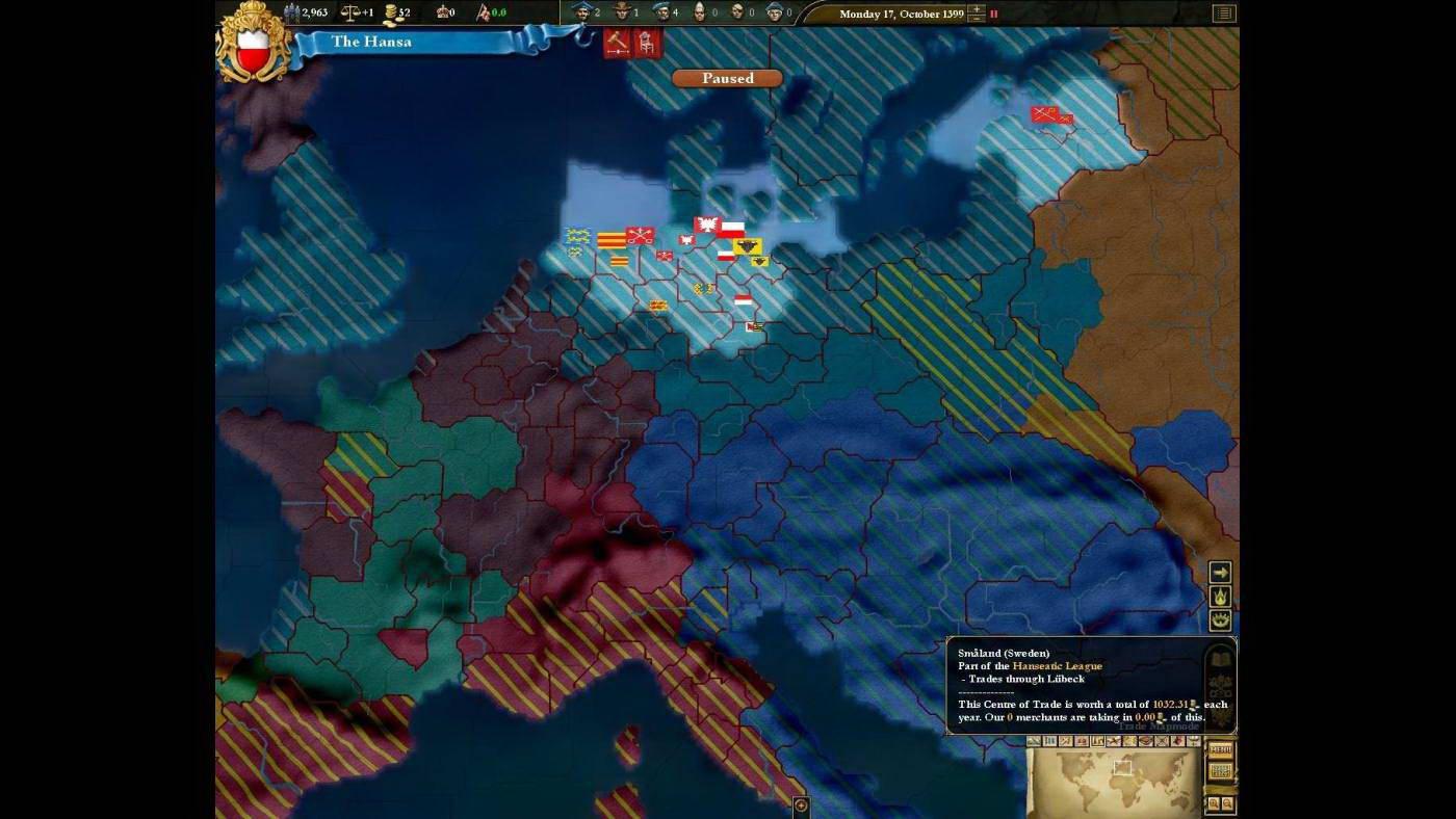 Скриншот Europa Universalis III: Heir to the Throne