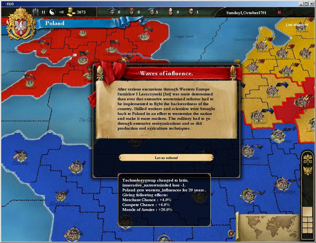Скриншот Europa Universalis III
