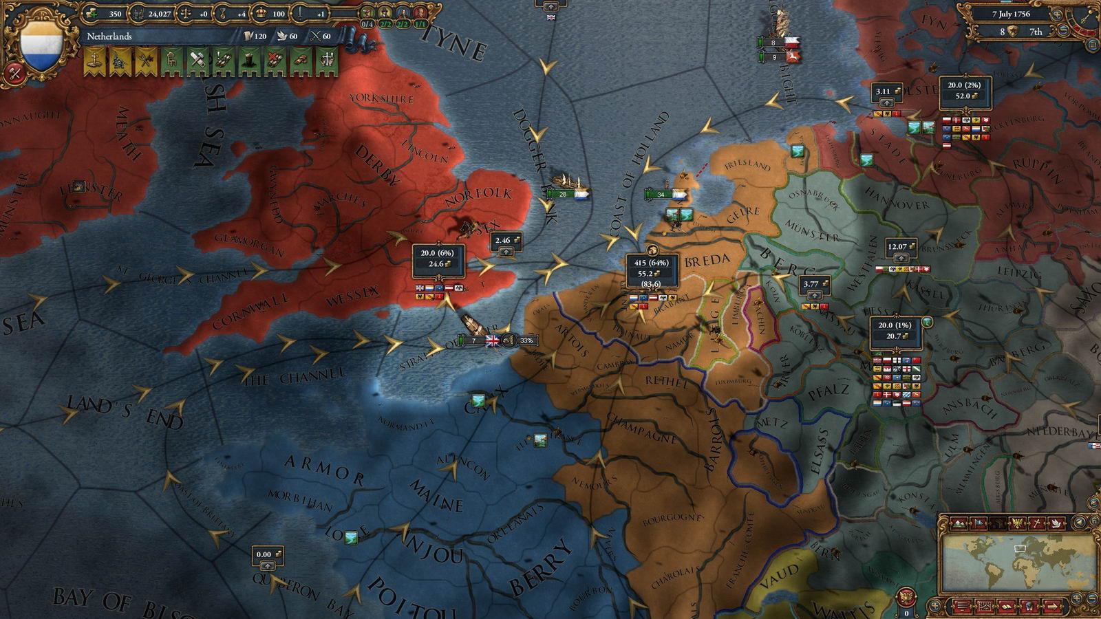 Скриншот Europa Universalis IV: Wealth of Nations