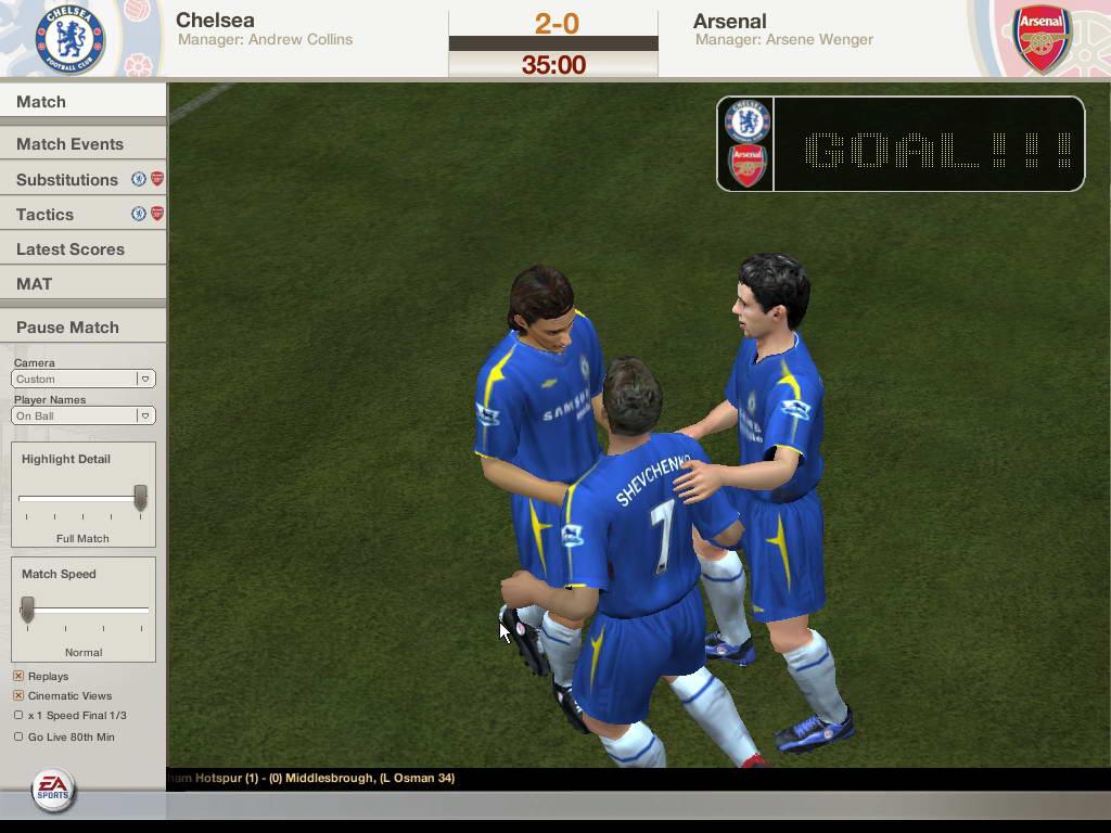Скриншот FIFA Football 2005