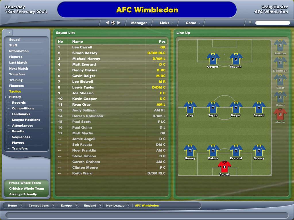 Скриншот Football Manager 2005