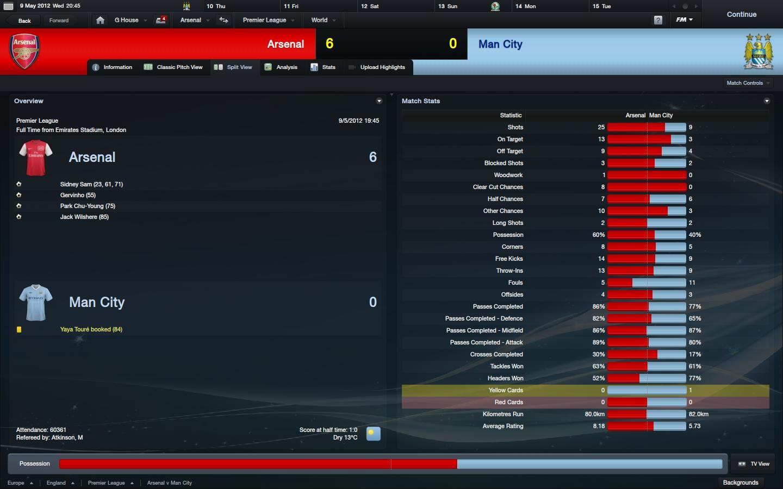 Скриншот Football Manager 2012