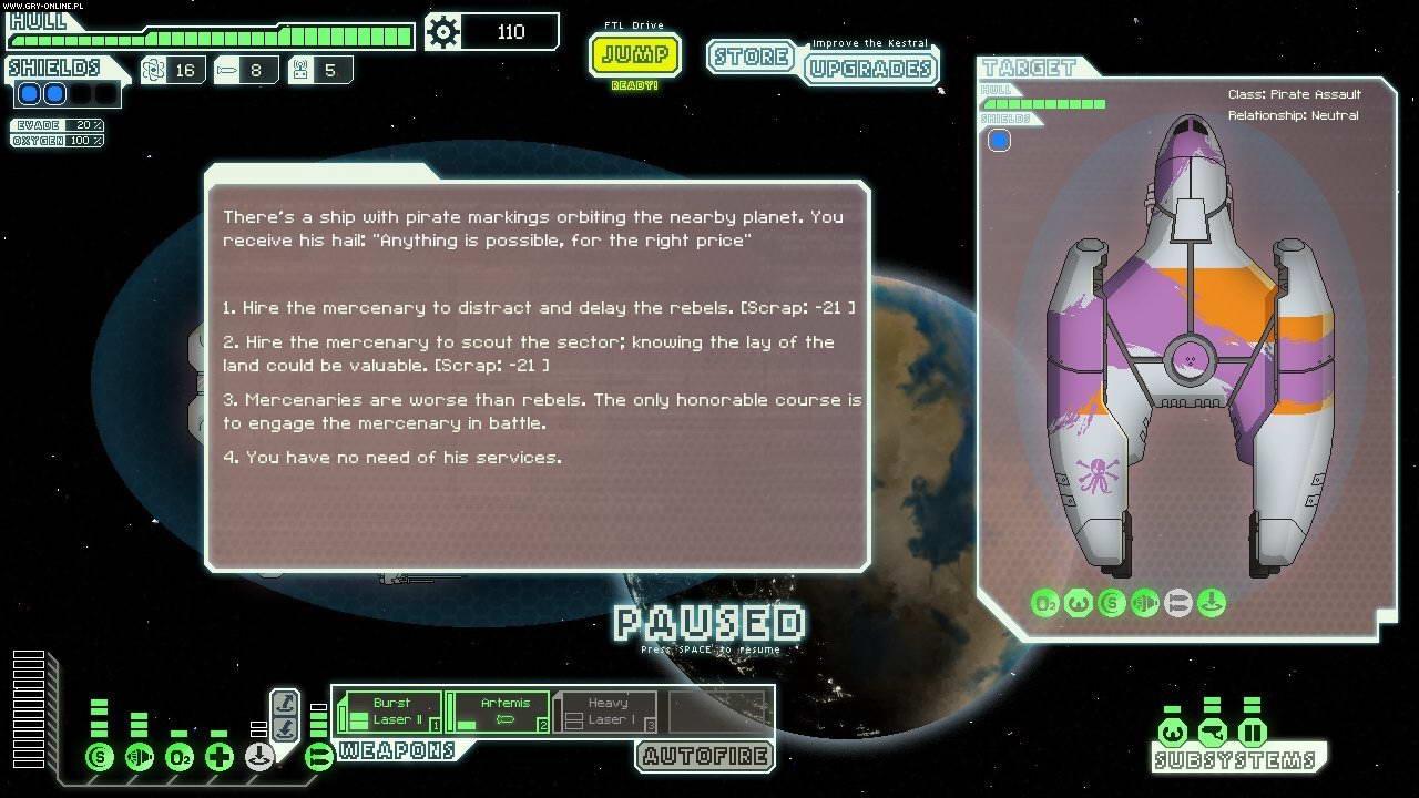 Скриншот FTL: Faster Than Light