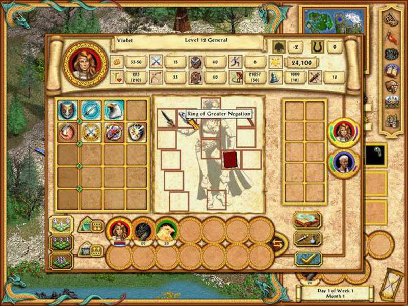 Скриншот Heroes of Might and Magic IV: The Gathering Storm