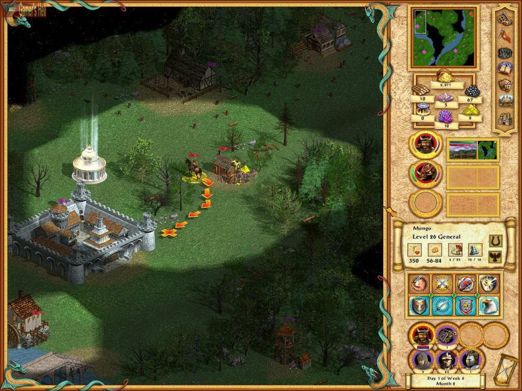 Скриншот Heroes of Might and Magic IV