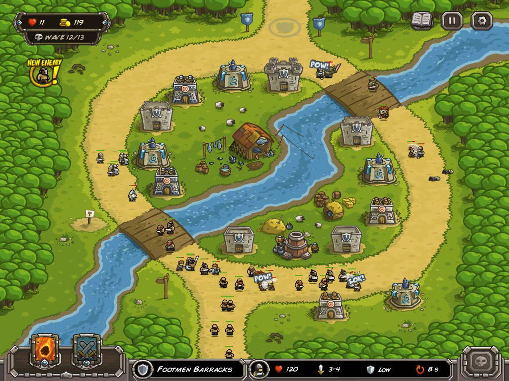 Скриншот Kingdom Rush