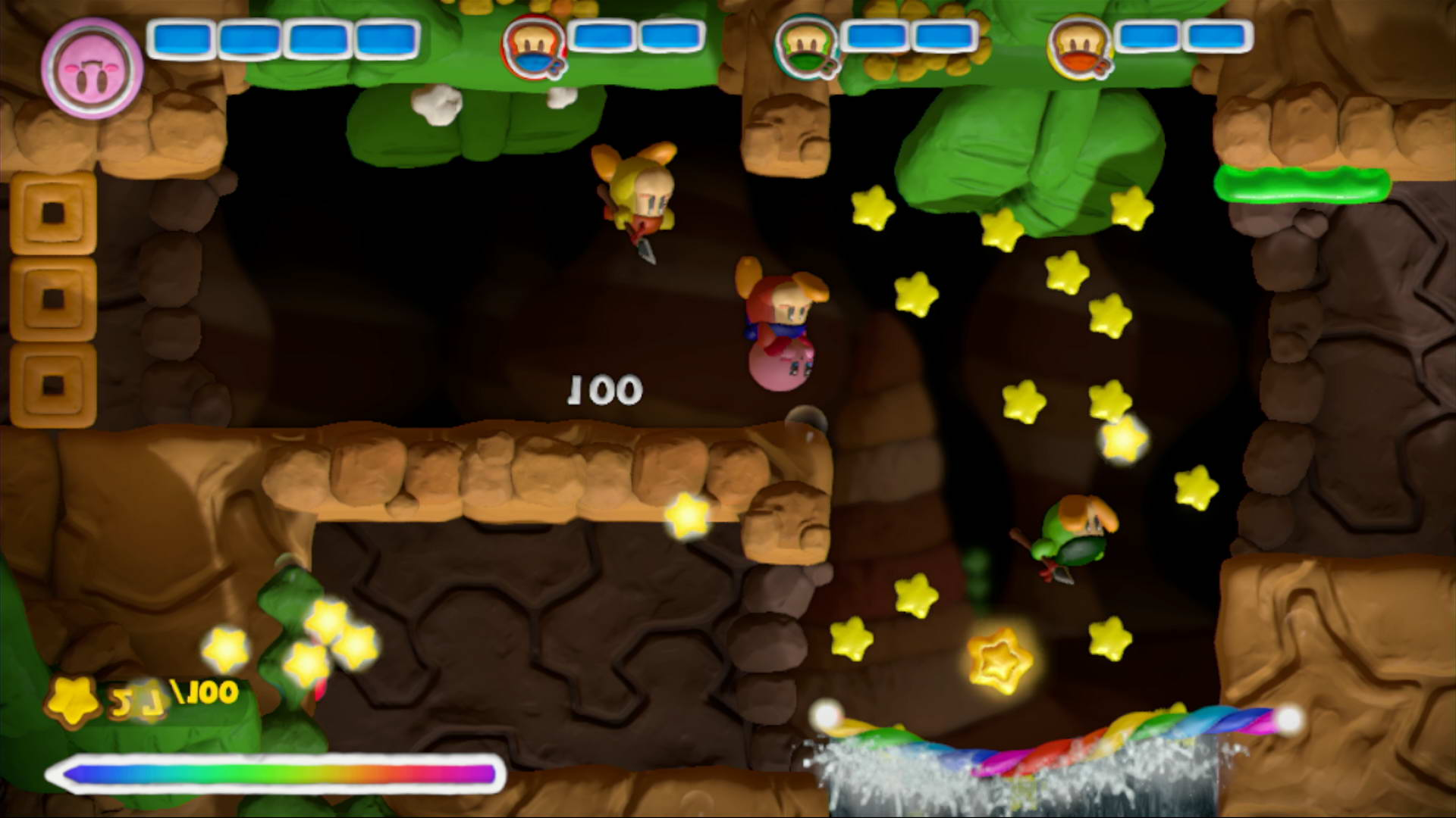 Скриншот Kirby and the Rainbow Curse