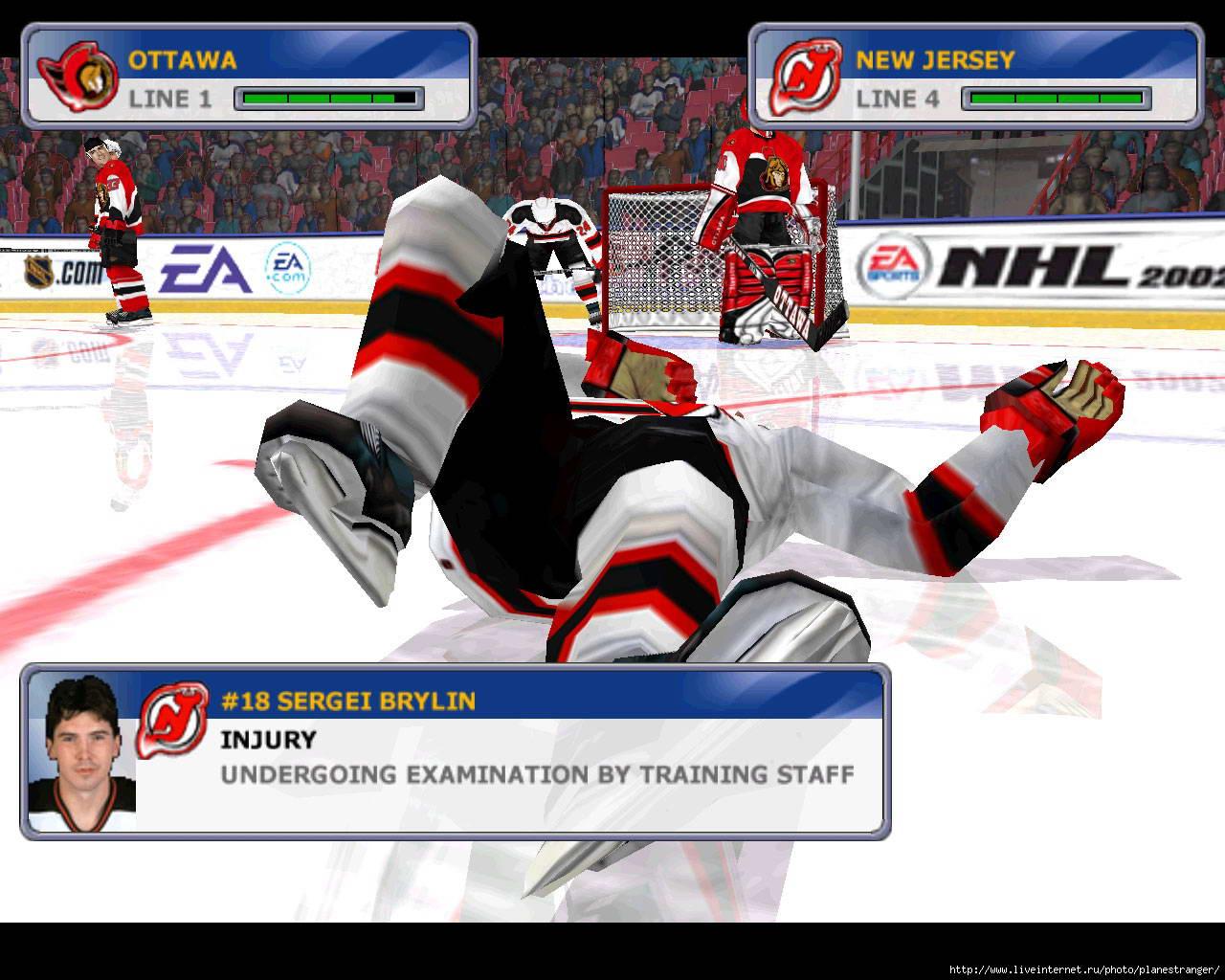 Скриншот NHL 2002