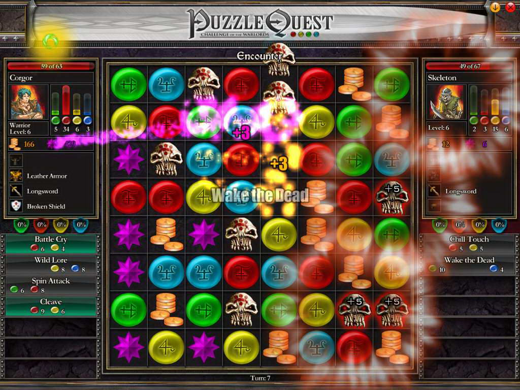 Скриншот Puzzle Quest: Challenge of the Warlords