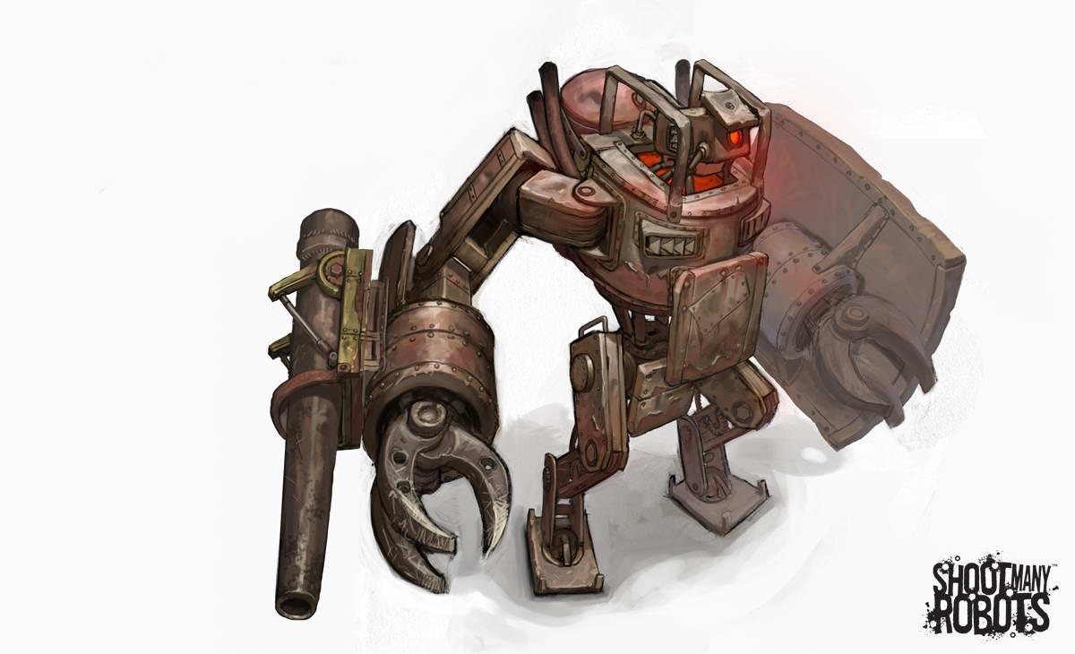 Арт Shoot Many Robots