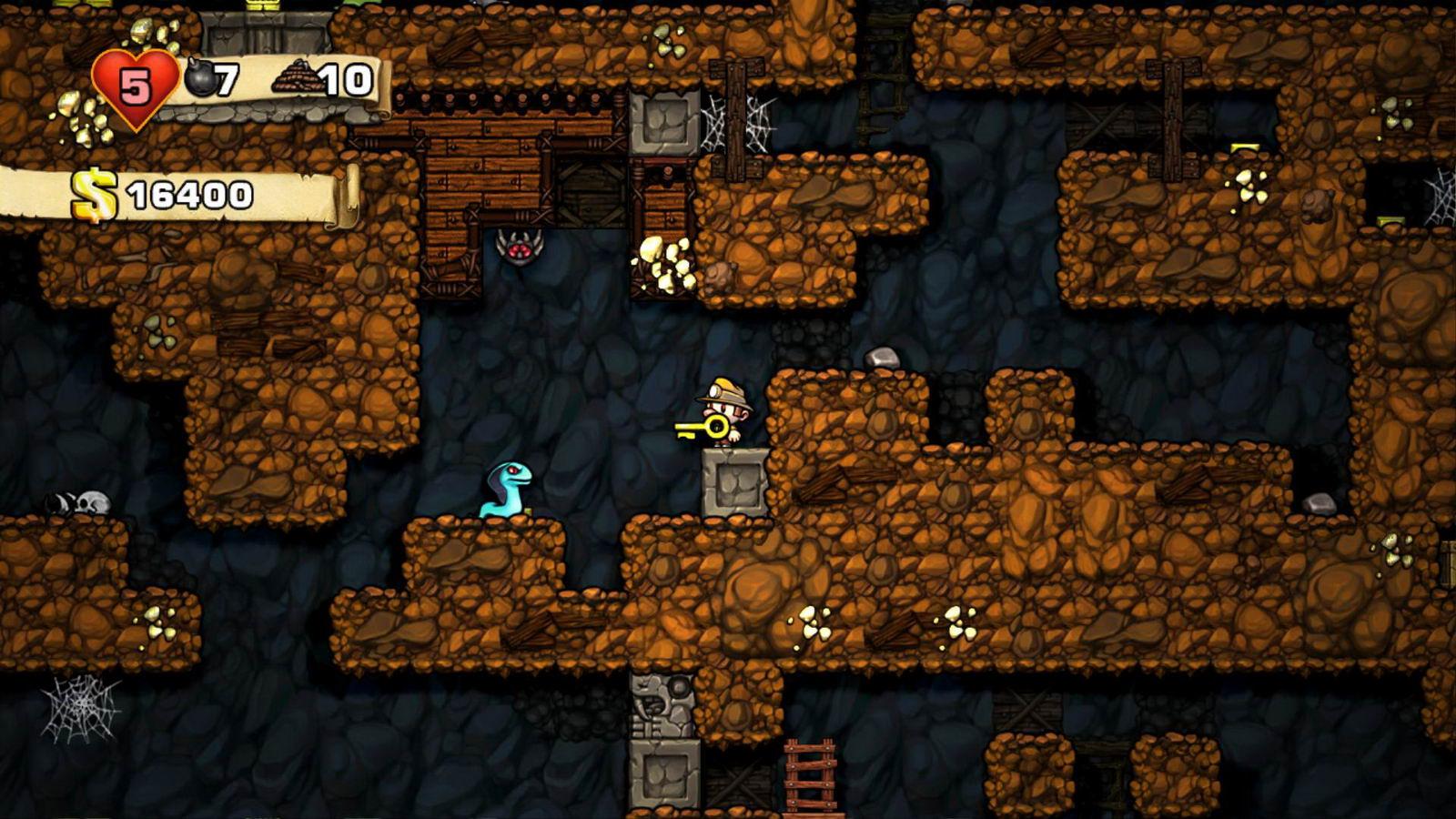 Скриншот Spelunky