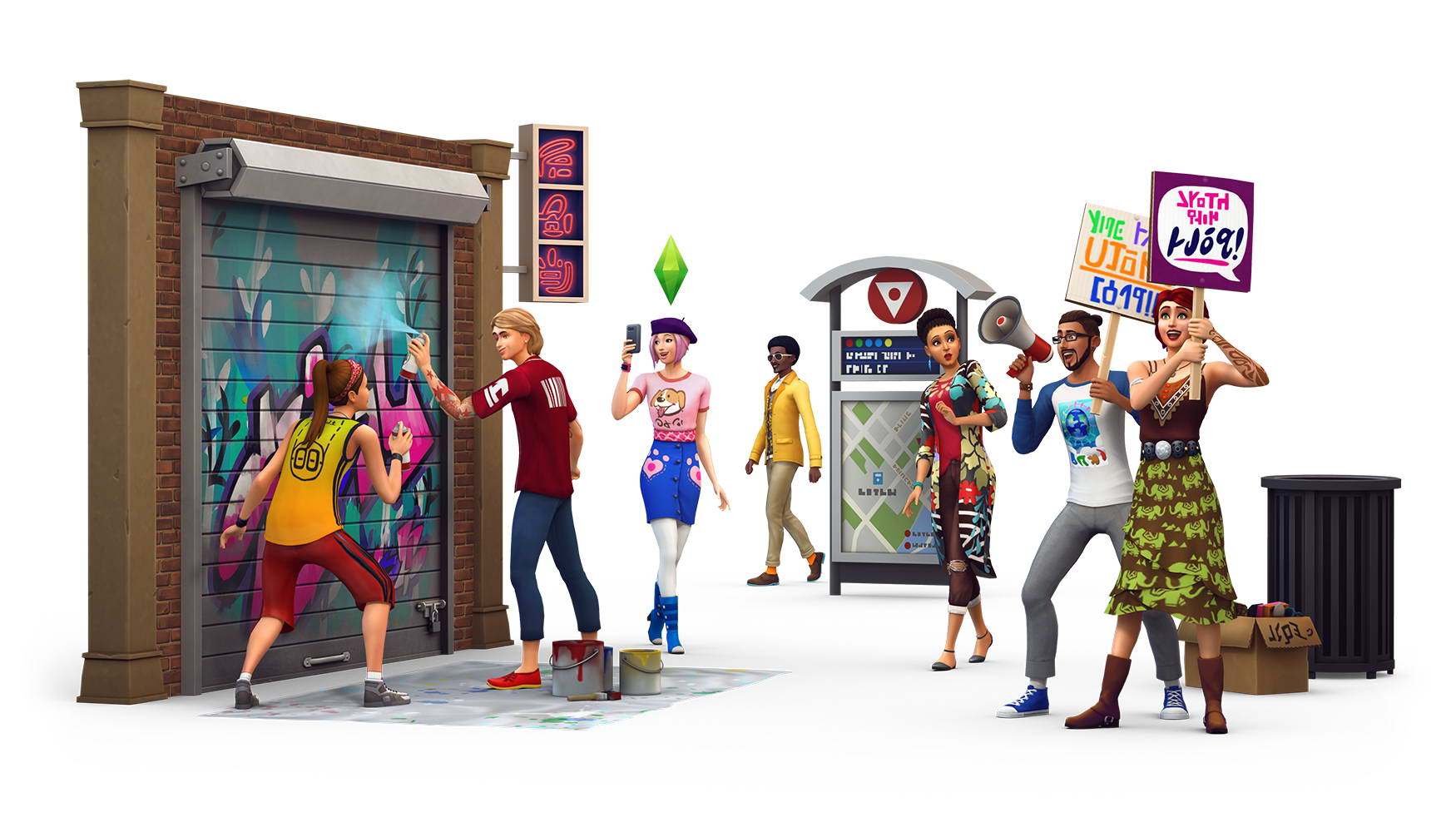 Скриншот The Sims 4: City Living
