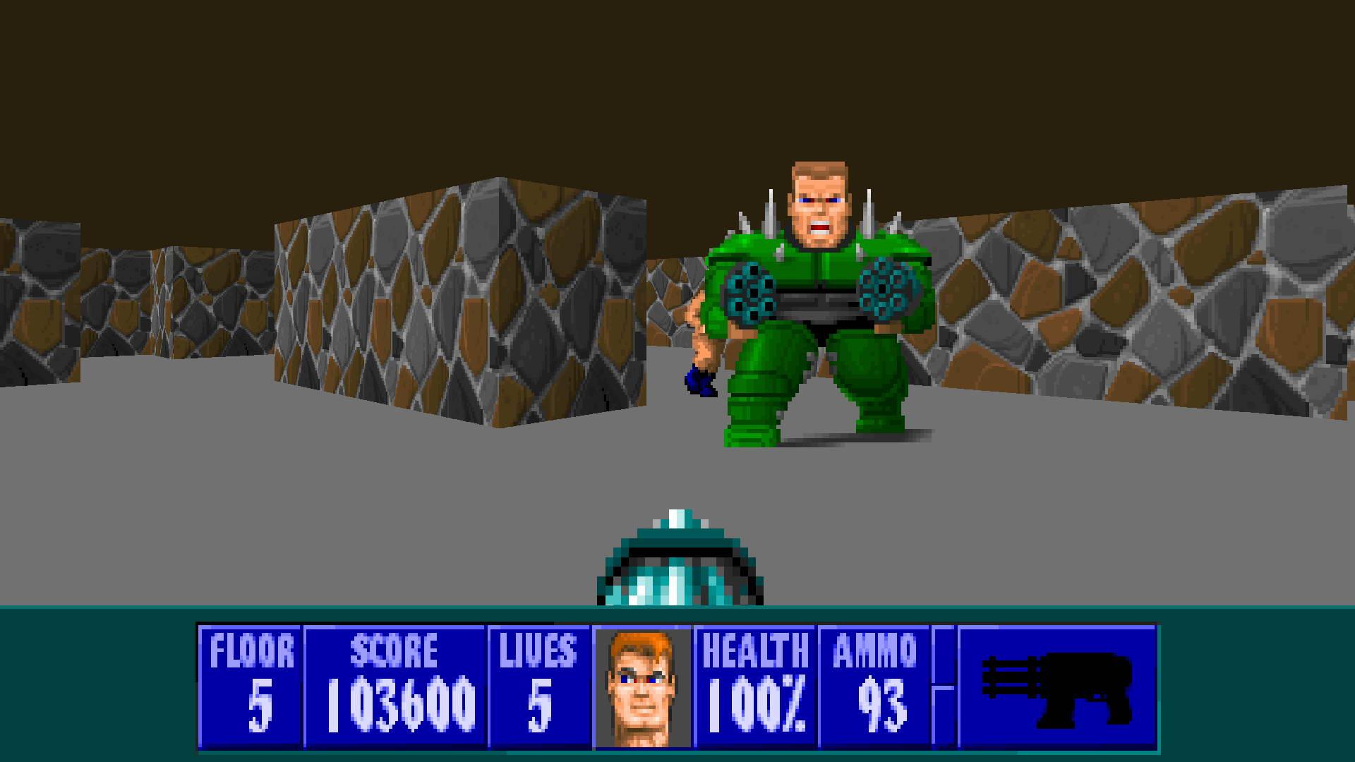 Скриншот Wolfenstein 3D: Spear of Destiny