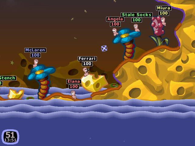 Скриншот Worms 2