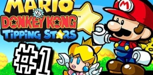 Mario vs Donkey Kong Tipping Stars WALKTHROUGH Gameplay Part 1 - Save Pauline! (Wii U)